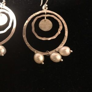 Jewelry - Silpada Sterling Pearl Earrings